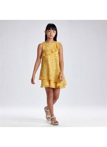 Mayoral Mayoral Kiz Çocuk Baskili Yazşık Elbise Sarı 20095 Sarı